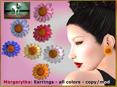 Bliensen - Margerytka - Earrings