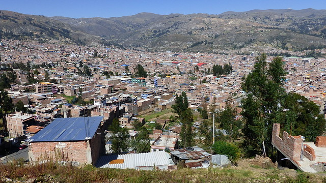 Vue sur la ville de Huaraz
