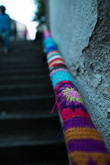 Yarn bombing Besançon 04