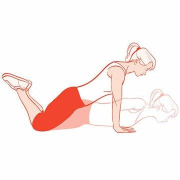 4. Bent-Knee Push-Up