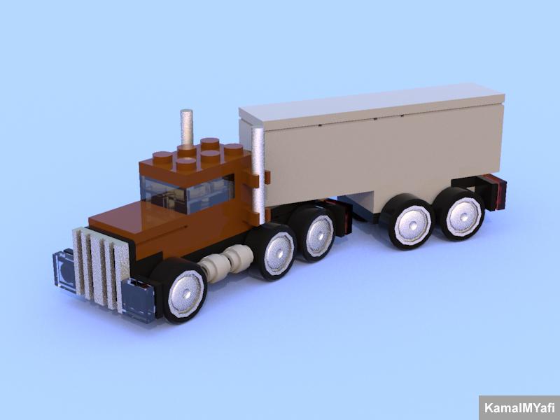 LEGO Chibi Tiny Turbo(s) Semi Truck by Kamal Muftie Yafi (KamalMYafi/Kamteey) | DigiBrickz.com