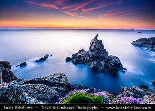 UK - England - Cornwall - Sennen Cove, Porthsenen - Irish Lady at Sunset