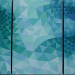 Ted Rehm - Under the Wave; Oil on canvas; 2006; triptych