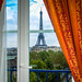 Eiffel Tower viewed from hotel room - Paris France by mbell1975