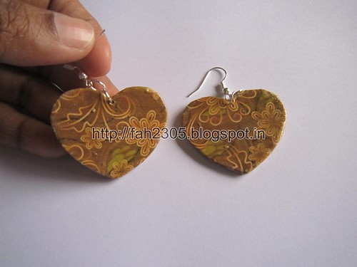 Handmade Jewelry - Card Paper Earrings  (Album 3) (10) by fah2305
