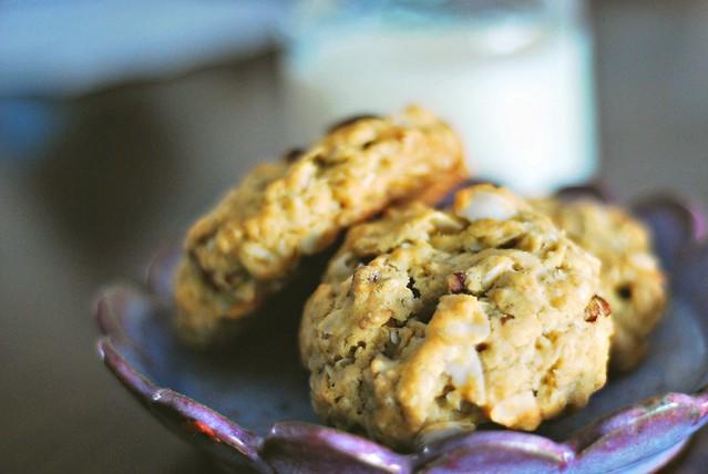 Coconut Pecan Oatmeal Cookies
