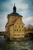 Altes Rathaus on the Obere Brücke over the Regnitz River in Bamberg Germany