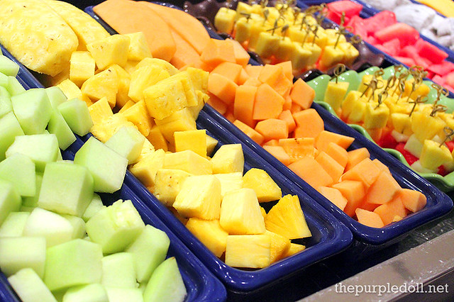 Fresh Fruit Slices at Spiral Sofitel