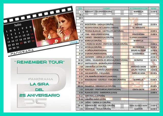 Orquesta Panorama Calendario.Orquestas Y Fiestas Fechas De Julio De La Orquesta Panorama 2013