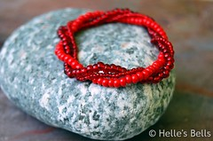 Mixed Red Seed Bead Bracelet