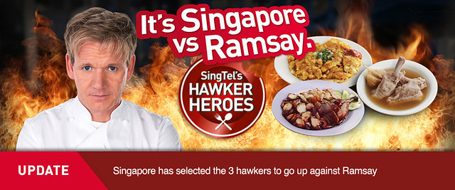 Three Singapore Hawkers to Face-Off with Michelin Star Chef Gordon Ramsay in Singtel's Hawker Heroes  - Alvinology