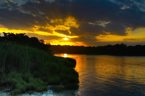 sunset ny james harbor hall suffolk day cloudy huntington north shore hdr dima photomatix coindre d3100