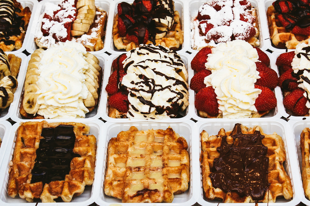 Belgian waffles in Brussels