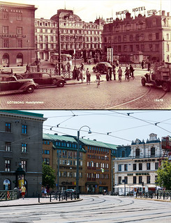 Gothenburg, Drottningtorget 1946 / 2013