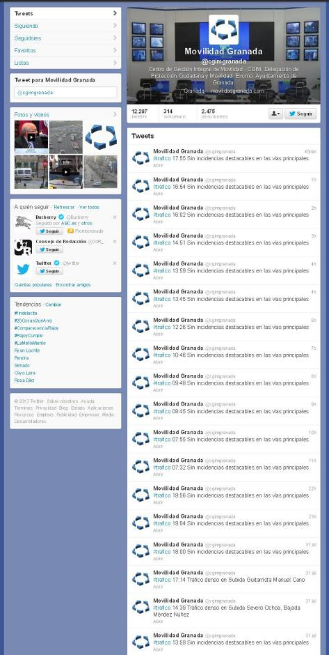 Twitter Movilidad OK
