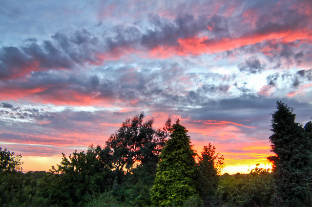 0357 - England, Nottingham, Beeston Sunset HDR