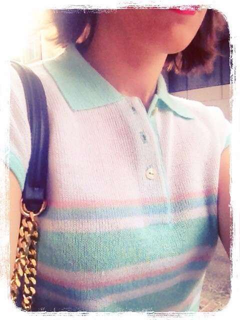 Knitted top retro