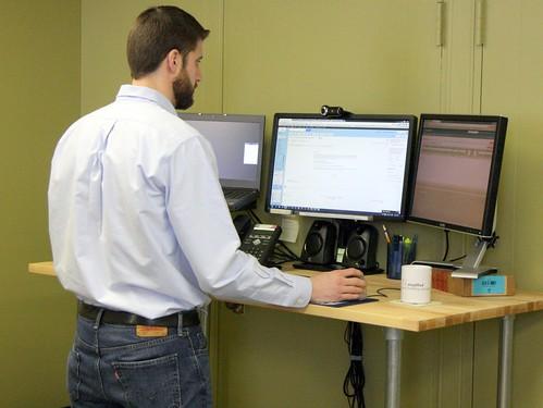 Adjustable Height Desk - Working
