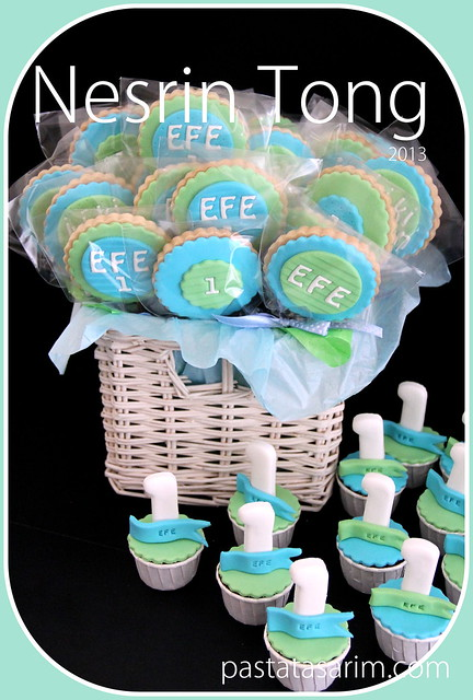 efe 1st birthday cookies and cupcakes
