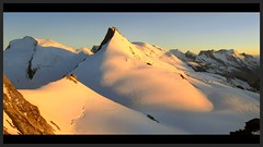 v.l. Strahlhorn - Rimpfischhorn - Castor - Pollux - Breithorn - Wallis - Switzerland