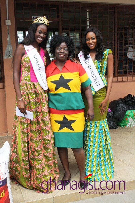 Miss Ghana at Osu Children's Home