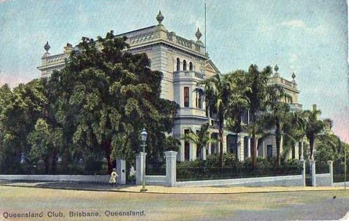 Queensland Club, Brisbane, Queensland, Australia - circa 1910