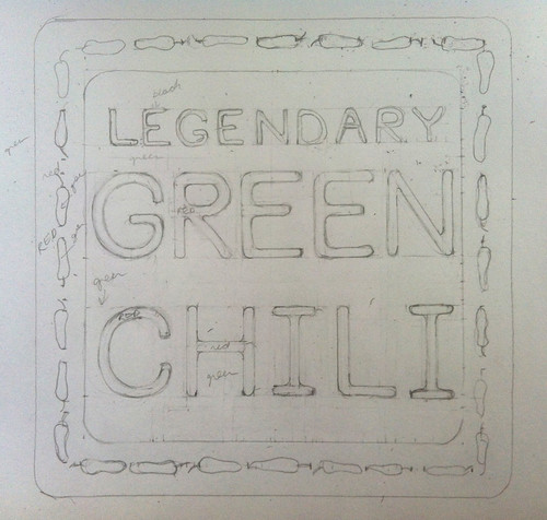 Legendary Green Chili (Sketch) by randubnick