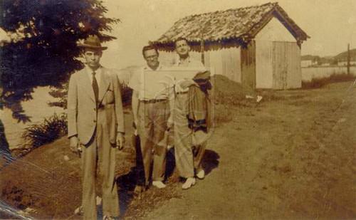 Gastão Cruls, José Lins do Rego e Gilberto Freyre