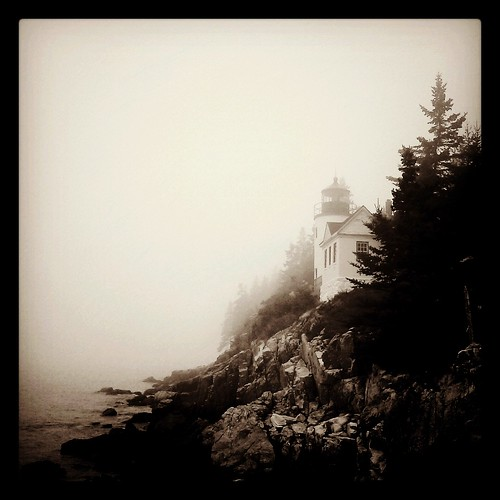 Fog • Bass Harbor Lighthouse