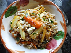 SKC: Honey and harissa farro salad