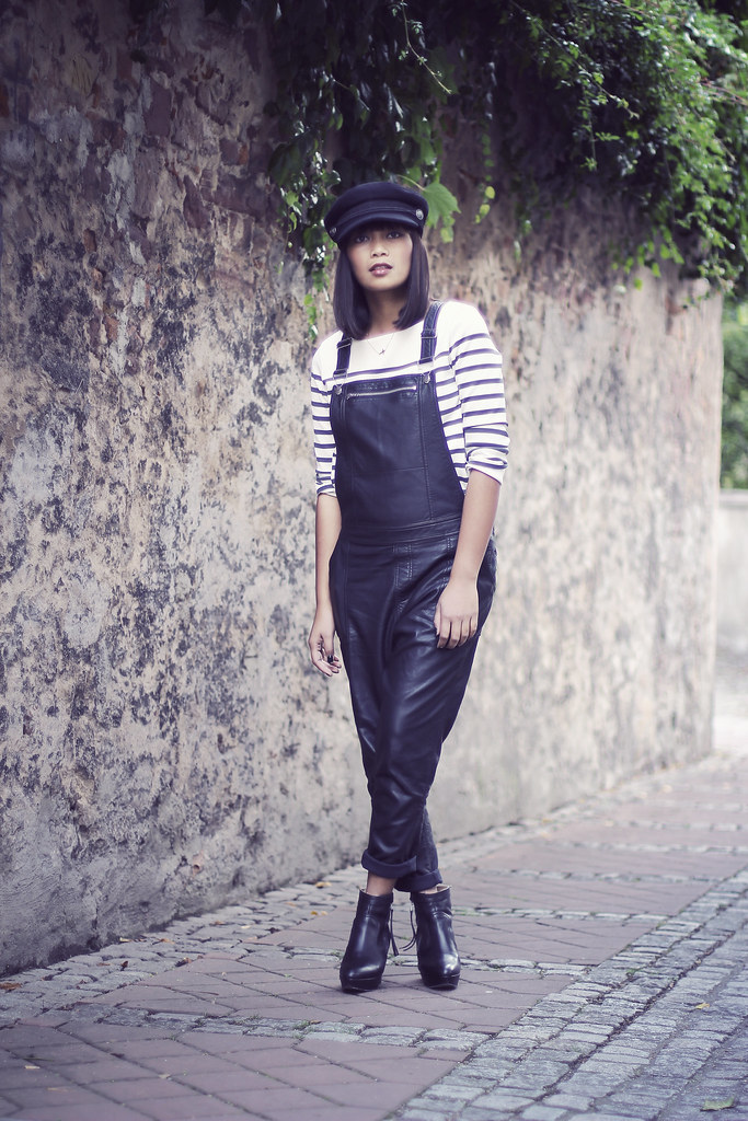 Topshop-Leather-Dungarees-Jumpsuit-Breton-Stripes-Acne-Track-Boots