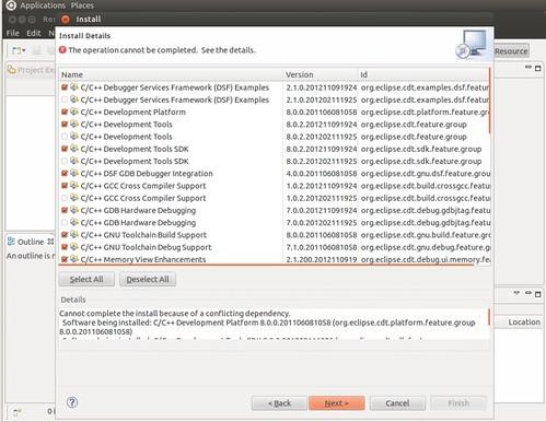 Ubuntu 12.04 Eclipse install CDT 2