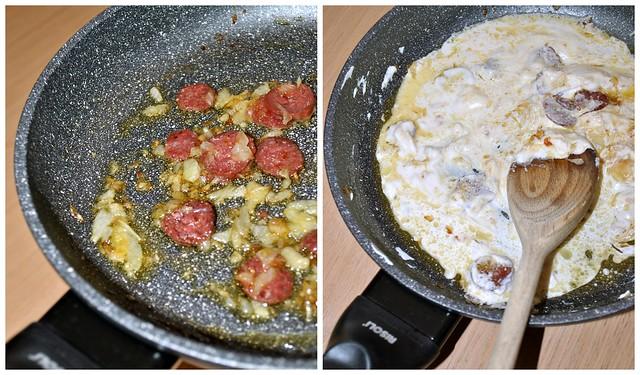 Sedani rigati con salsiccia di Norcia, ricotta di bufala e pomodorini 3