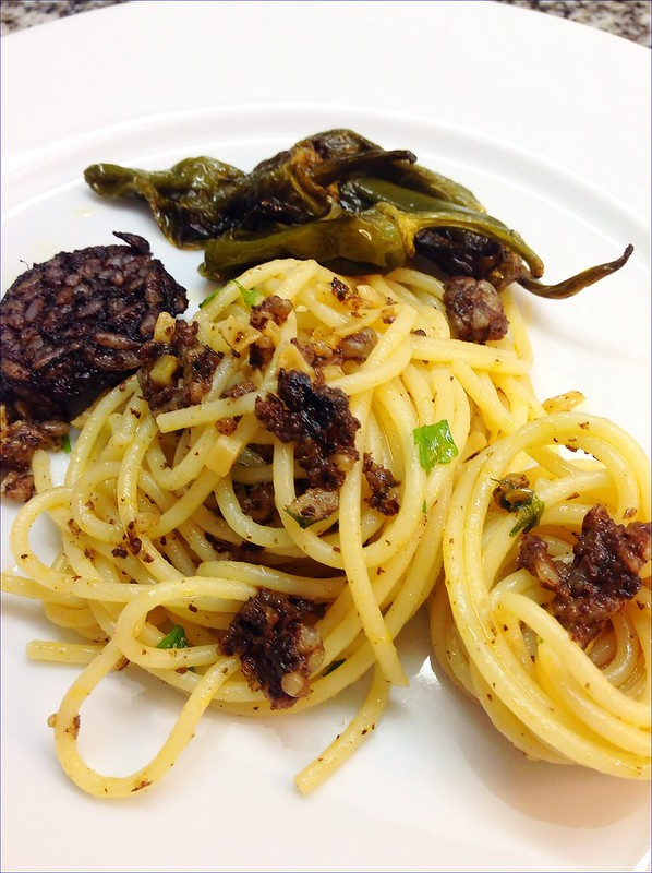 SPAGHETTI WITH BLACK PUDDING 3
