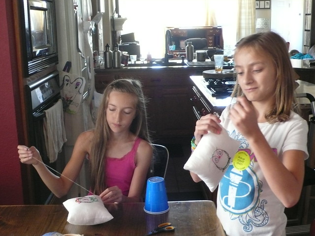 Sewing class: Kara & Anna