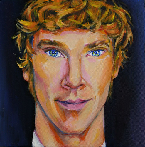 Benedict Cumberbatch Acrylic Painting by GezuntehMoid