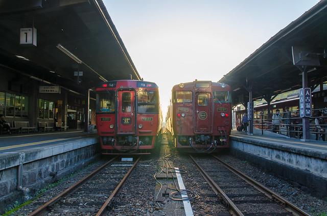 九州横断特急&いさぶろう・しんぺい@人吉駅