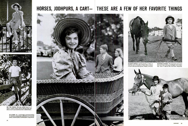 LIFE Magaxine APRIL 26, 1963 (3) - HORSES, JODHPURS, A CART--THESE ARE A FEW OF HER FAVORITE THINGS