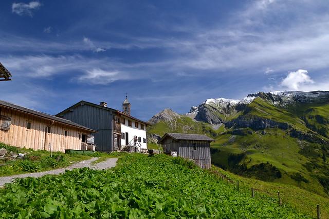 The Walser settlement on Bürstegg above Lech am Arlberg