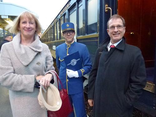 Orient Express - our maitre du cabin, Thibault