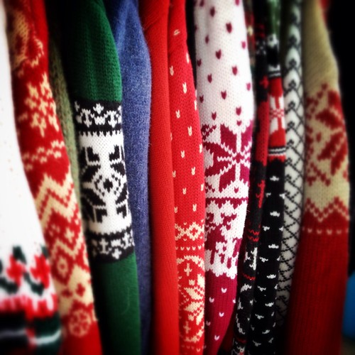 ugly Christmas sweaters / ski sweaters