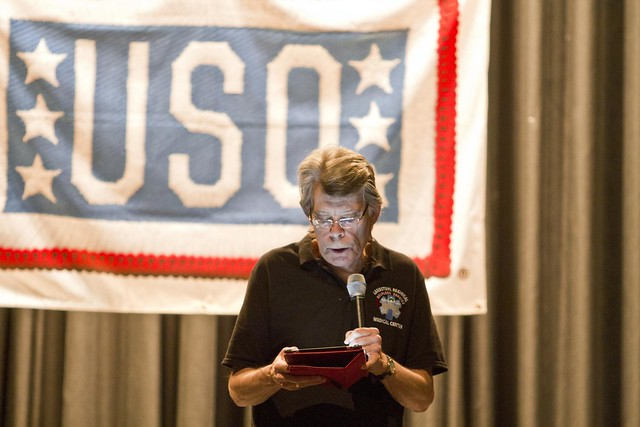 Stephen King visits USO Warrior Center
