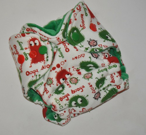 Bumstoppers Newborn Christmas Ooga Hybrid Fitted