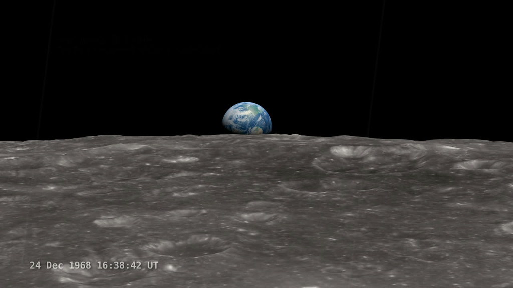 NASA Google+ Hangout: 'Earthrise' A New Visualization - 45th Anniversary of Apollo 8 Viewing Earth from Space