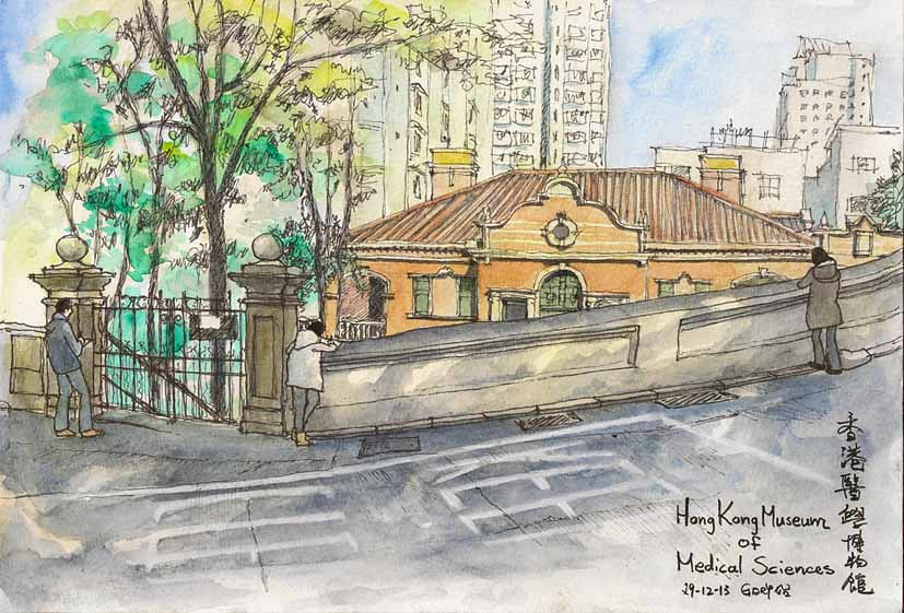 Sketching the Sketchers at the Hong Kong Museum of Medical Sciences