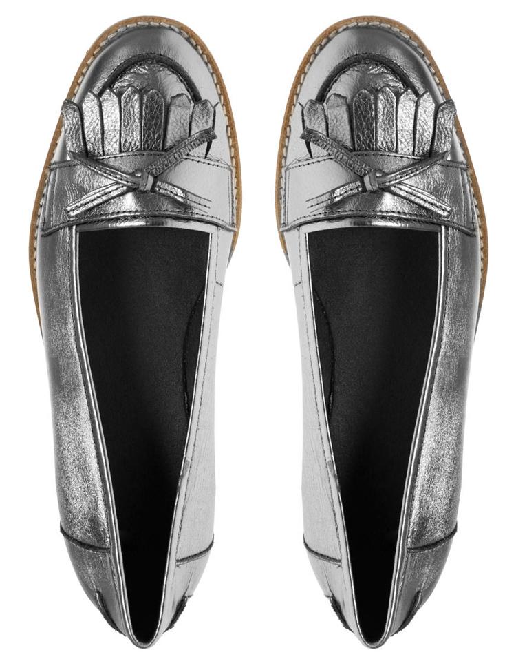 ASOS MADGE Metallic Leather Tassel Loafer