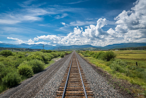 sky mountains clouds train nikon colorado rocks unitedstates amtrak railcar rails shrubs d800 parshall sierrahotel tamron2470mm