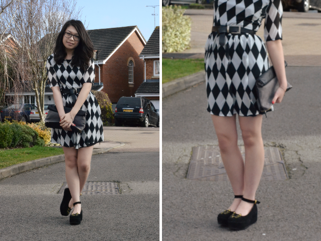 Daisybutter - UK Style and Fashion Blog: what i wore, how to style skater dresses, charlotte olympia inspired shoes, poppy lux