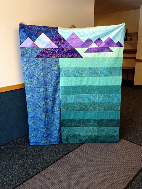 Mountain range quilt