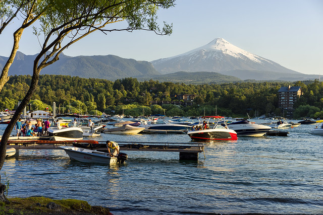 Villarica Volcano, View from Pucon, Patagonia, Chile